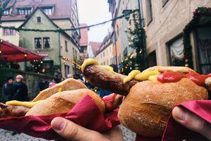 Christmas market Bratwurst