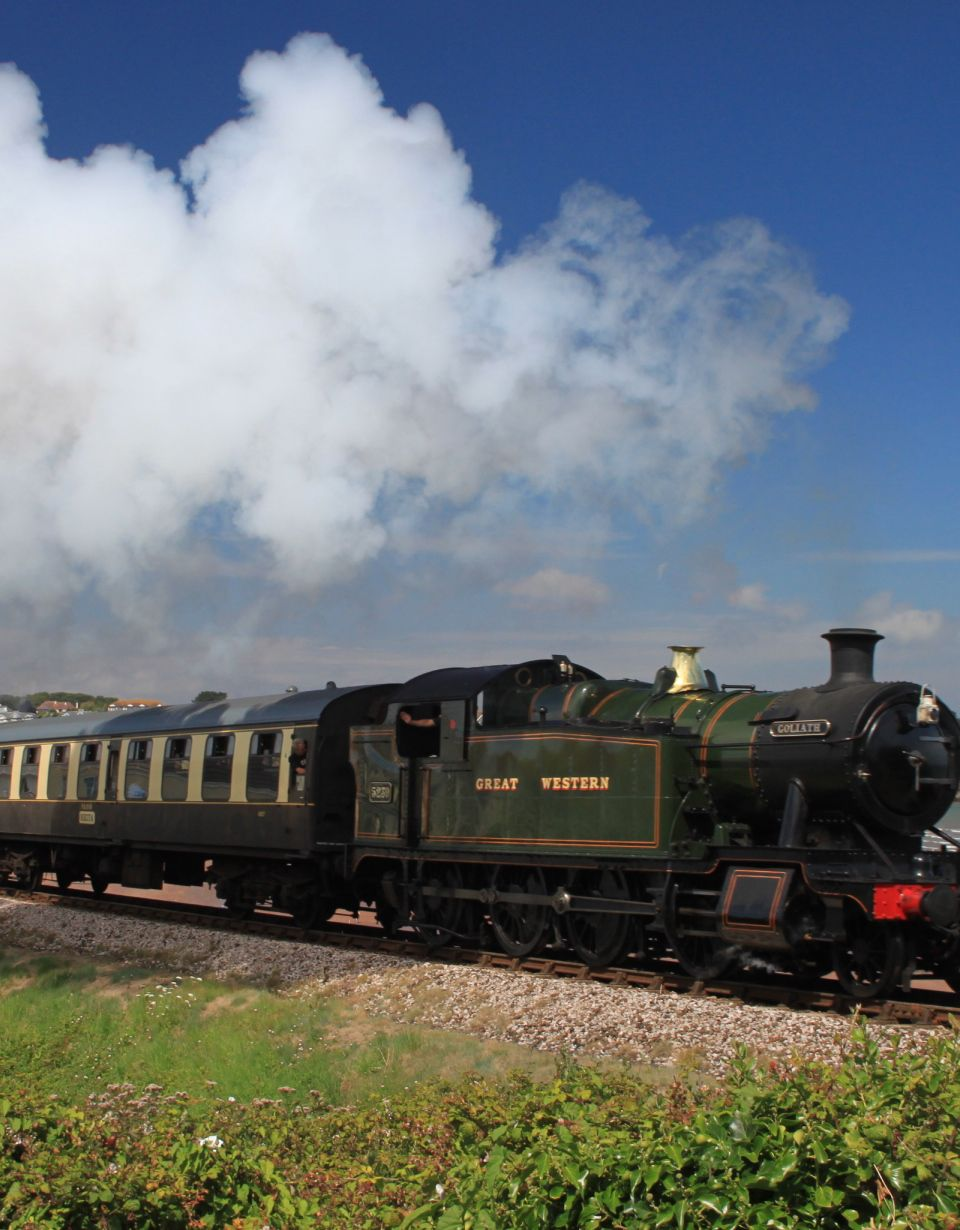 Great Western Railway on Darthmouth Steam Railway in Devon