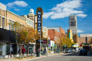 Liberty Street Scene in Ann Arbor