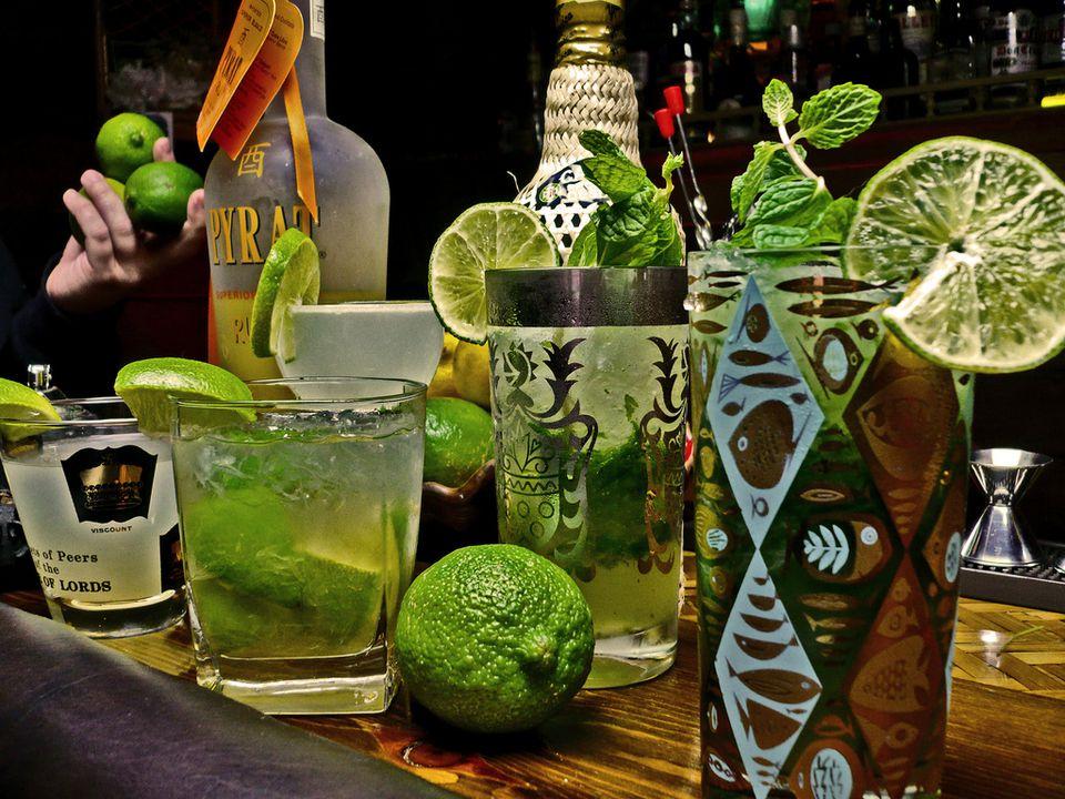 Pyrat rum cocktails