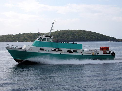 Native Son ferry Oriole departing Red Hook, St. Thomas for the British Virgin Islands.