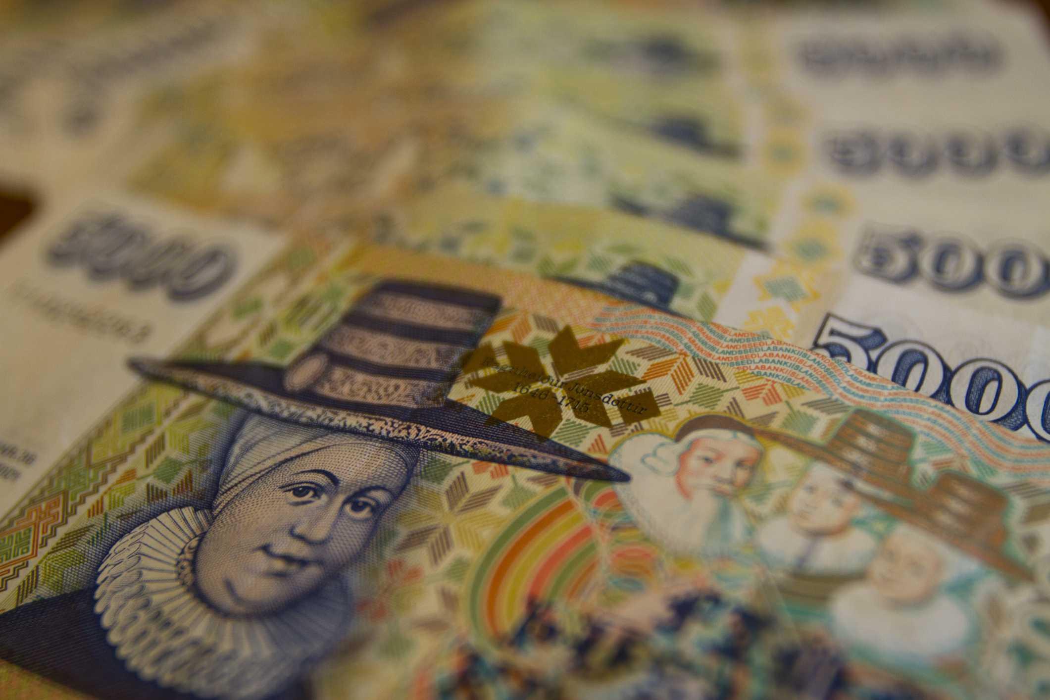 Closeup Of Icelandic Krona