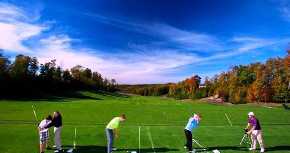 golfers at Treetops Resort: Gaylord, MI