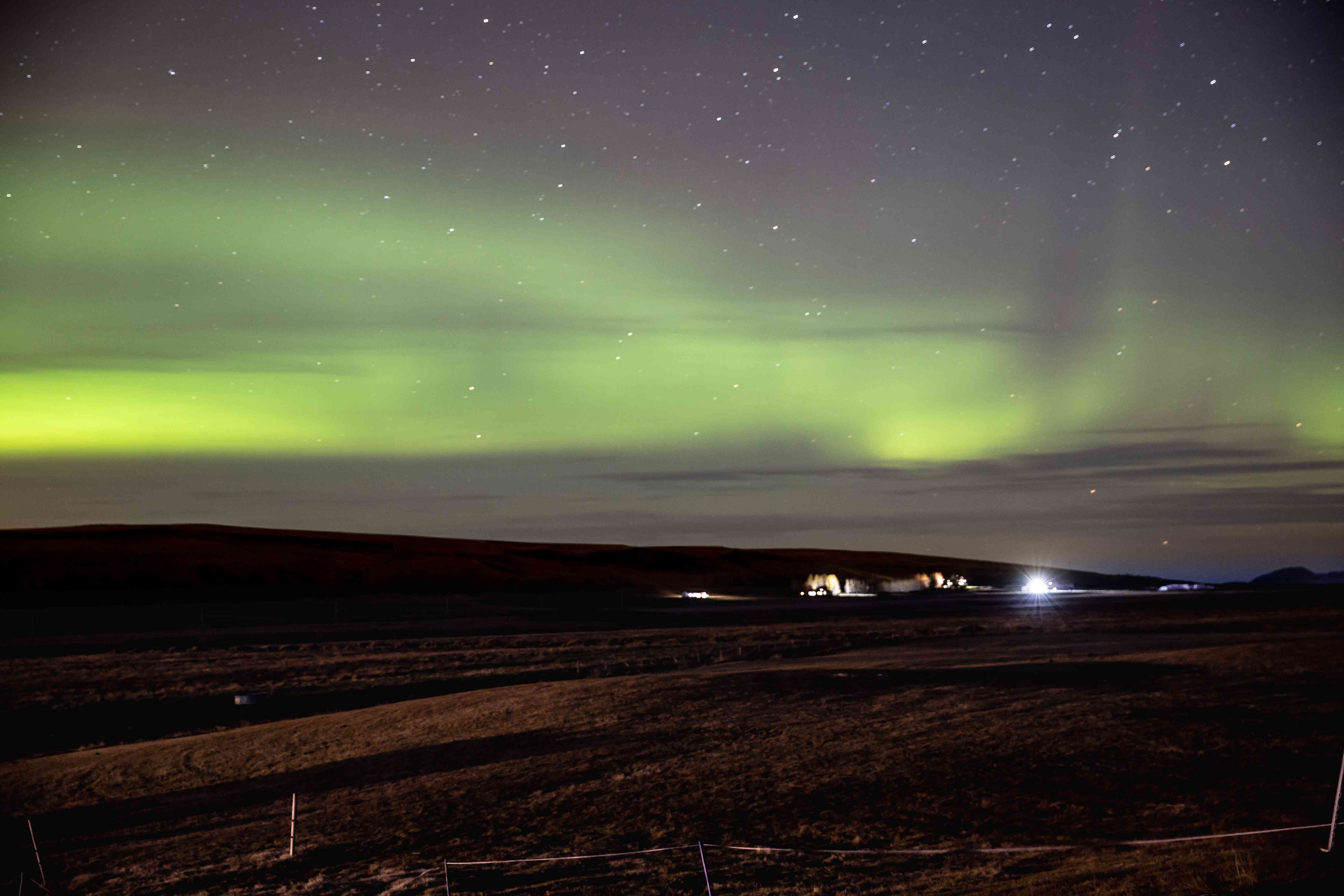 Green lights in Iceland's Northern Lights