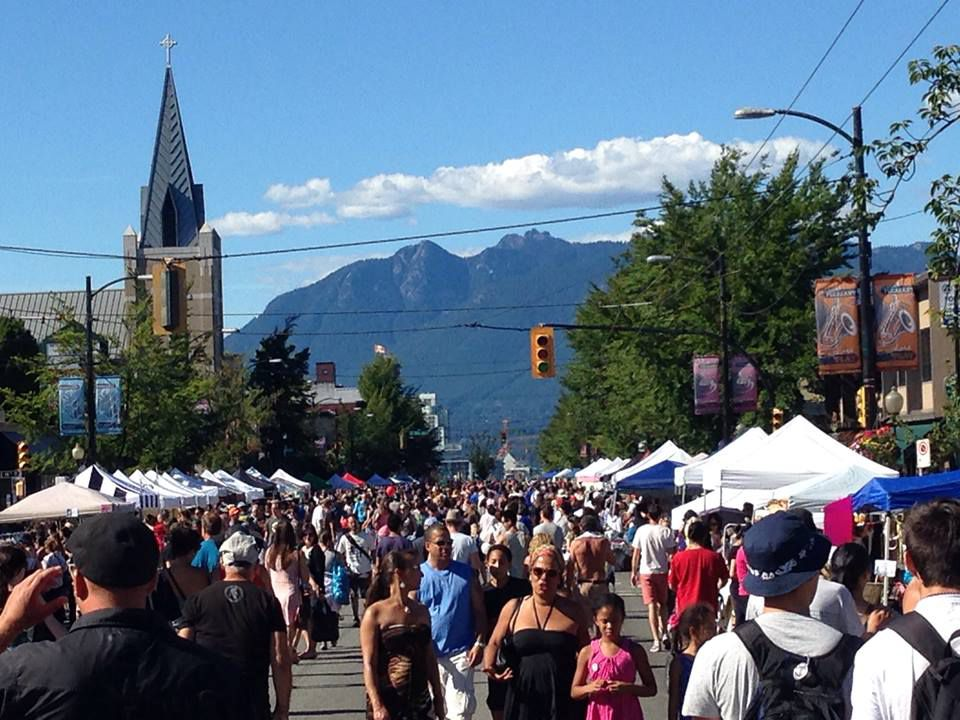 Car-Free Festival on Main Street, Vancouver, BC