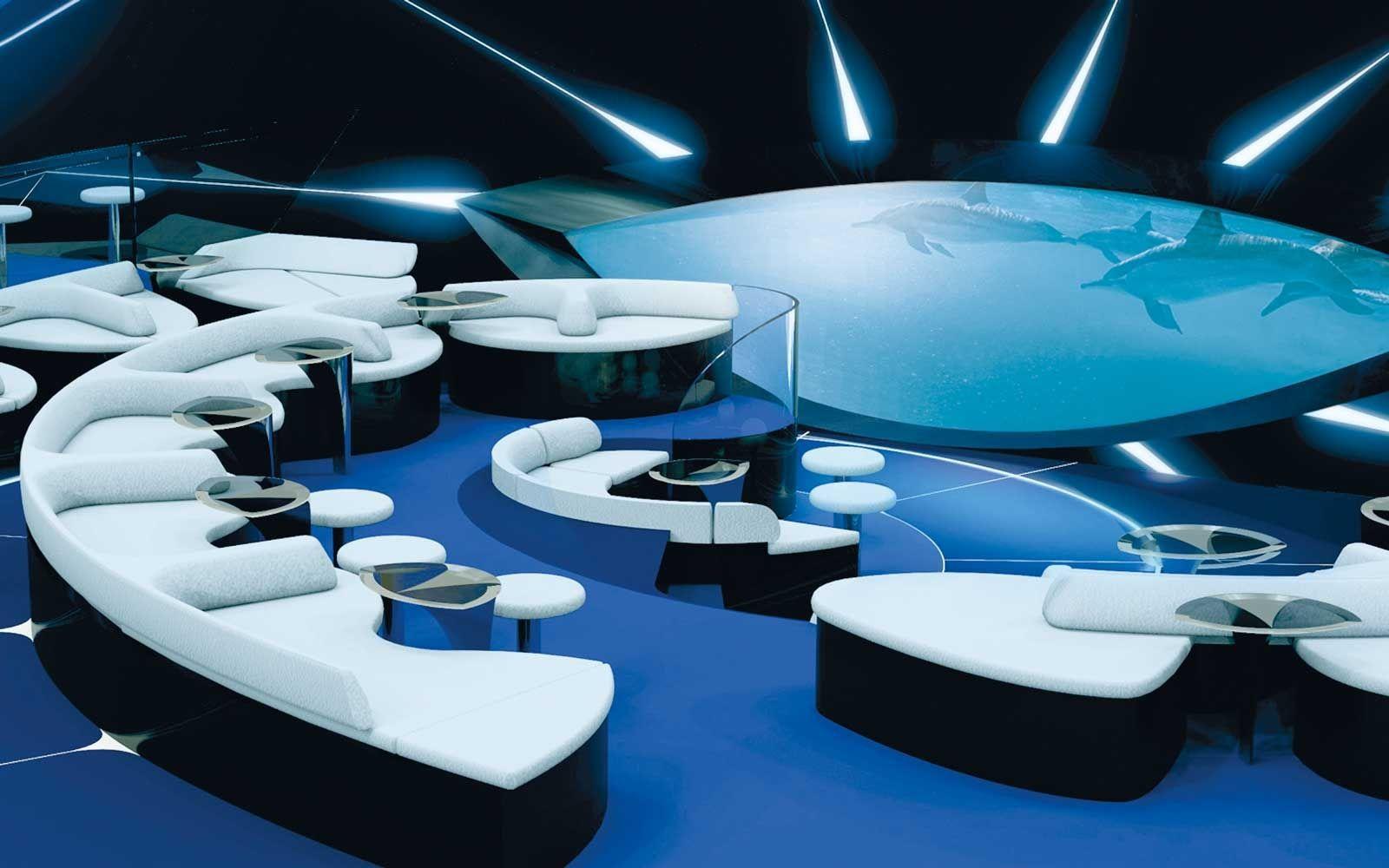 Blue Eye Lounge on Ponant expedition ships