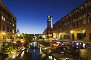 View of river in Oklahoma City, Oklahoma