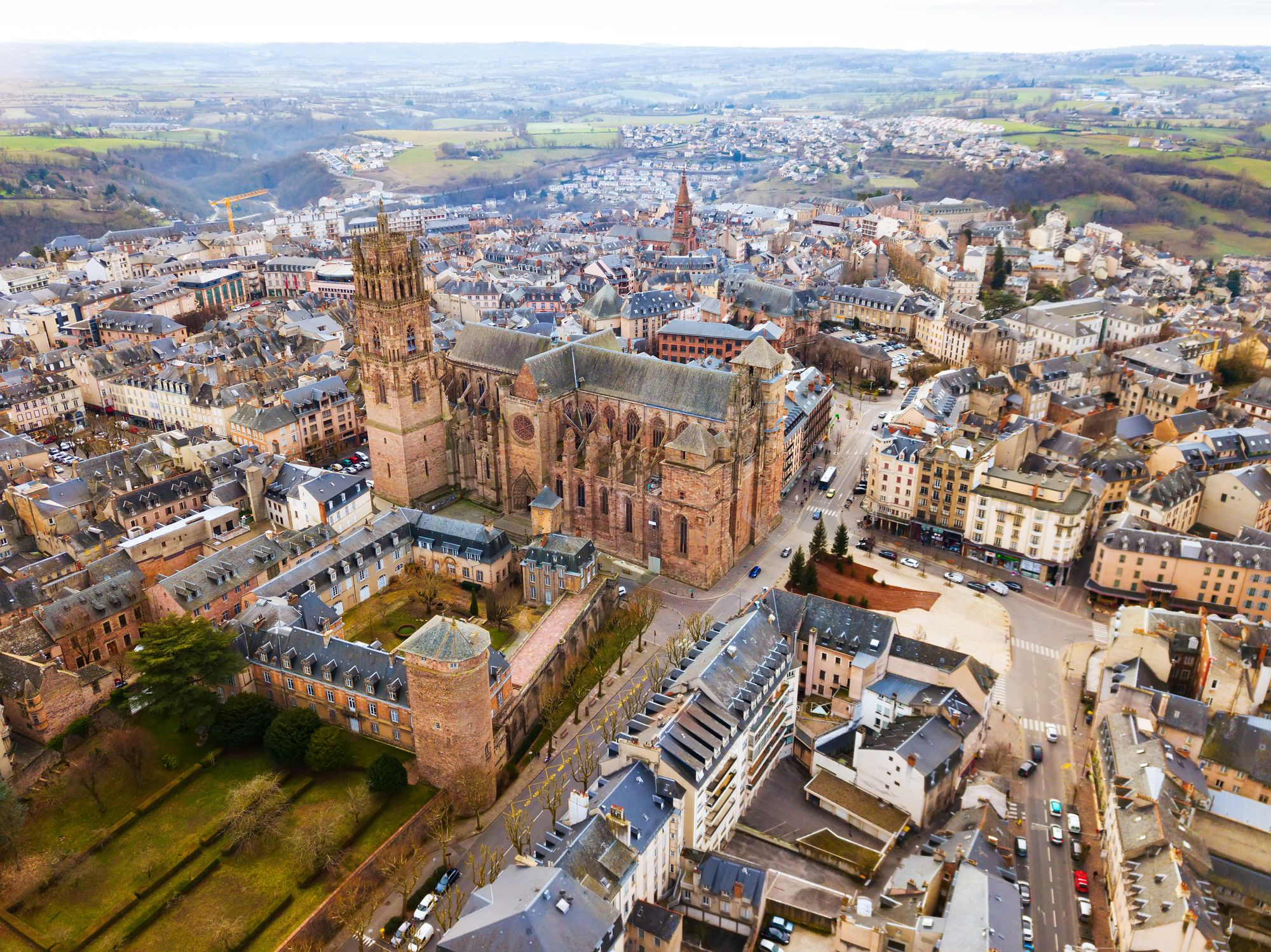 Aerial view of Rodez