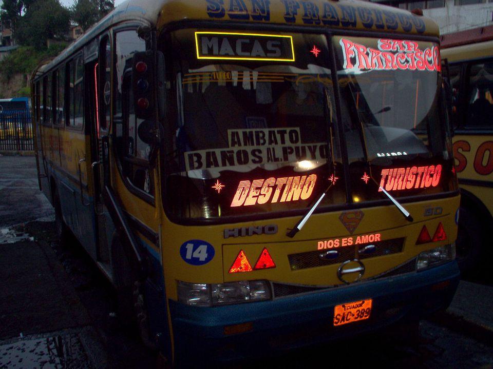 An autobus in Ecuador