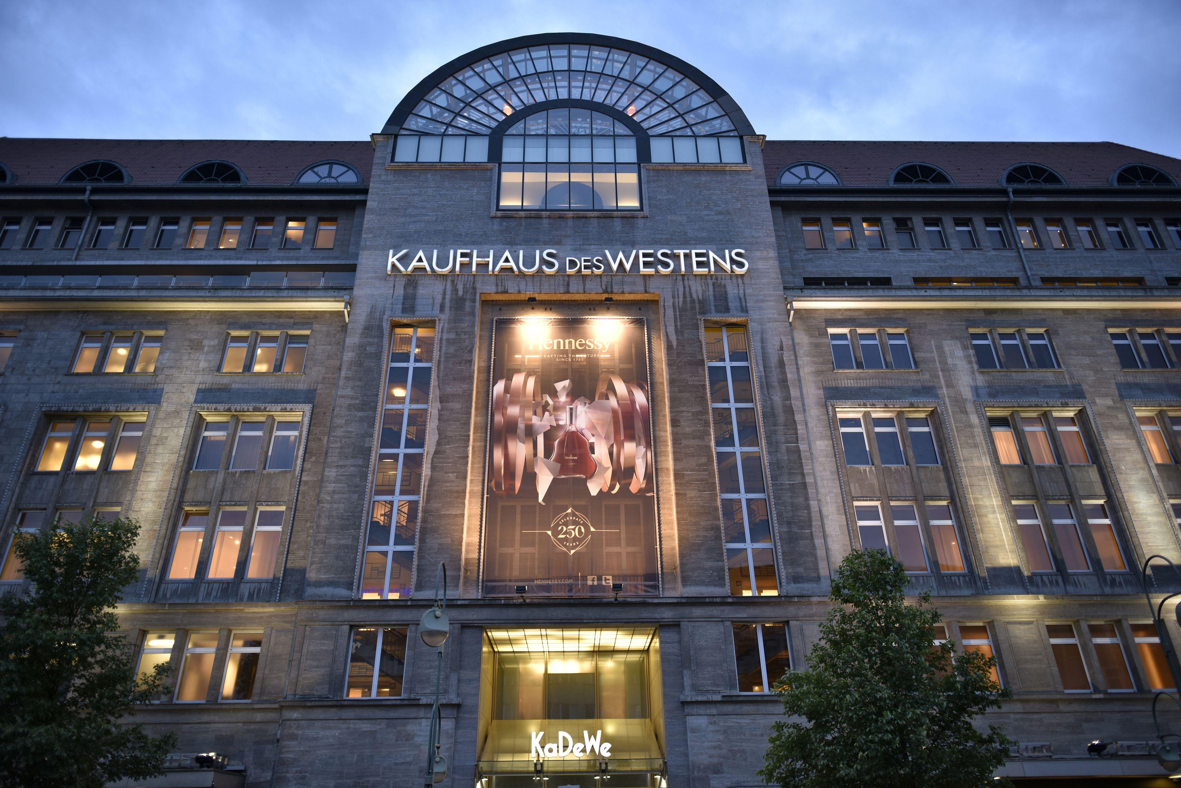 Shopping center KaDeWe at the blue hour, Berlin, Germany, Europe