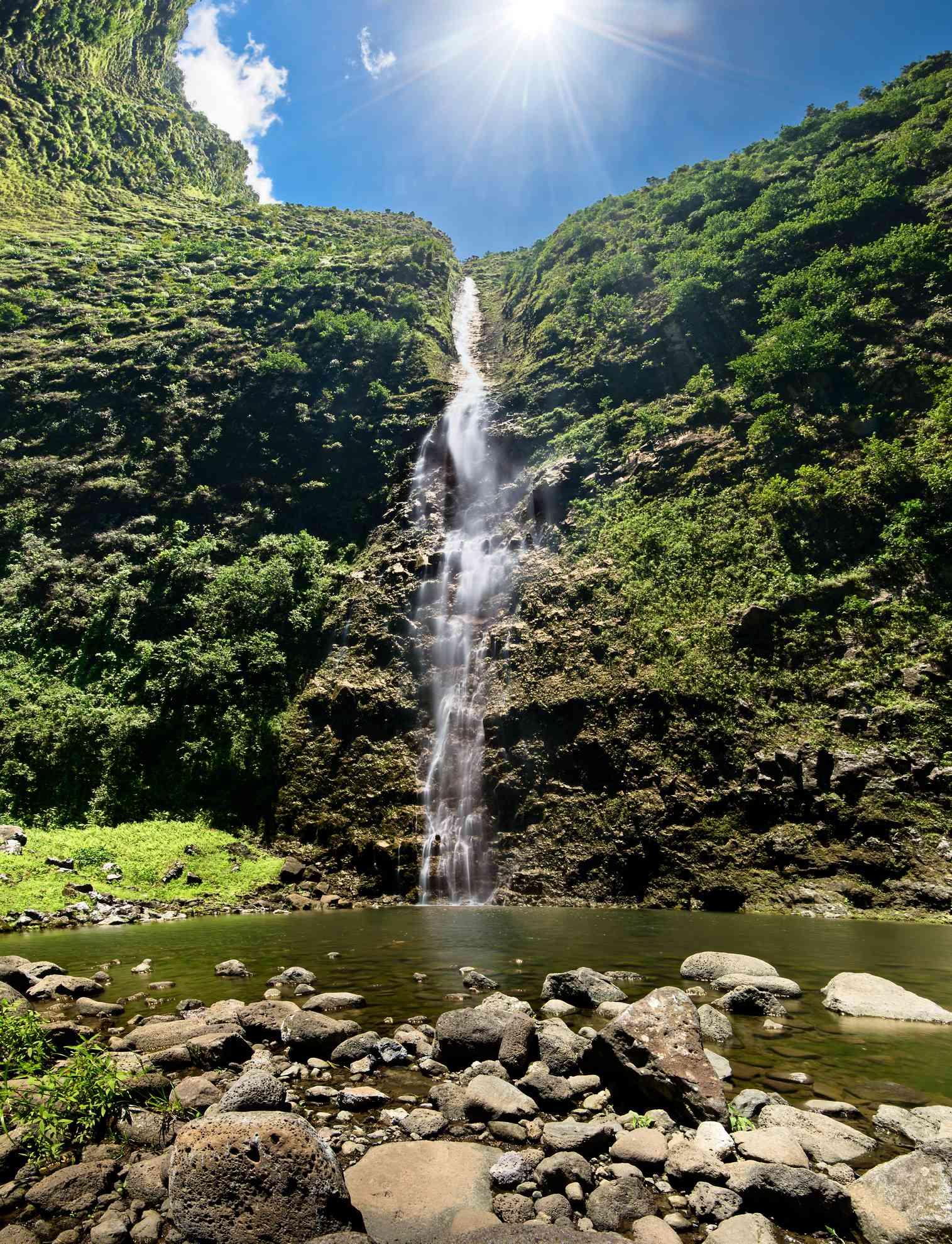Hanakoa Falls in Hanakoa Valley