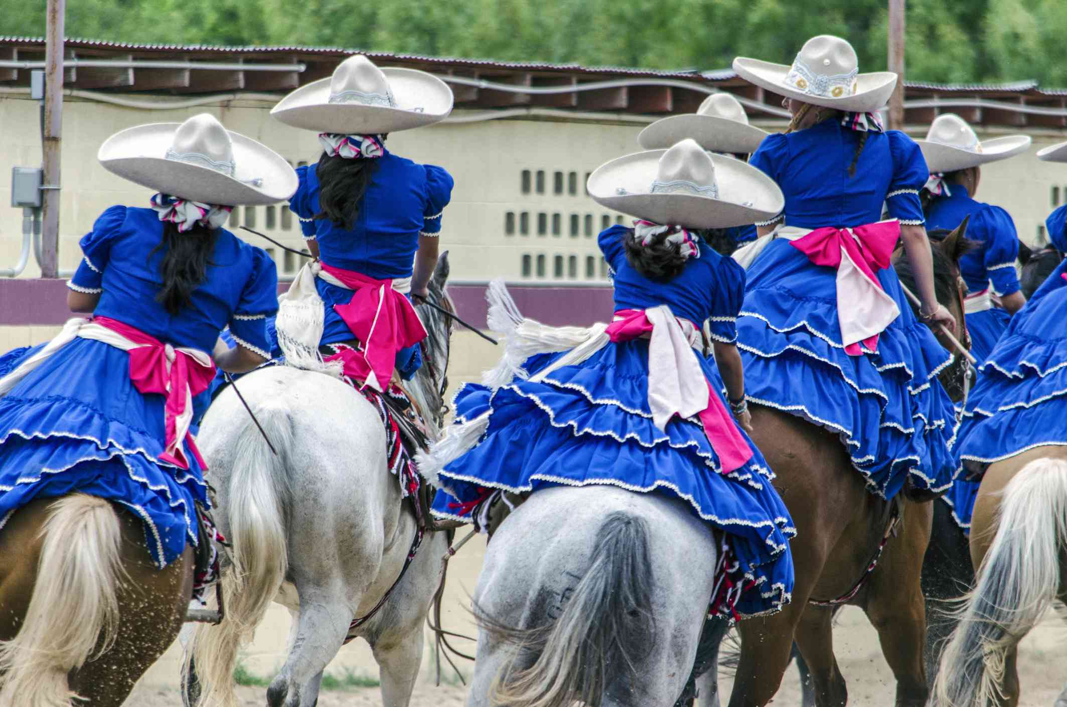 Escaramuzas on horseback in San Antonio
