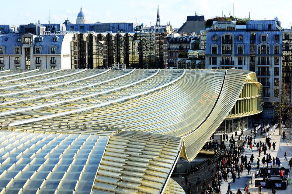 Canopee And Forum Des Halles as seen from above