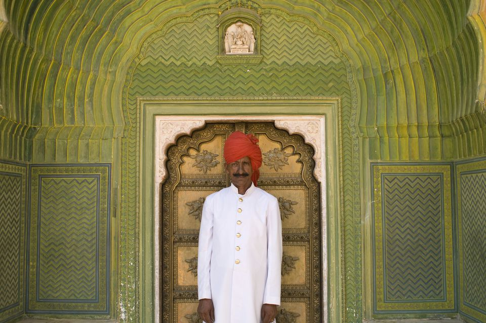 Palace Guard in The City Palace, Jaipur, Rajasthan