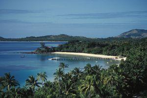Movie setting of Blue Lagoon in Fiji