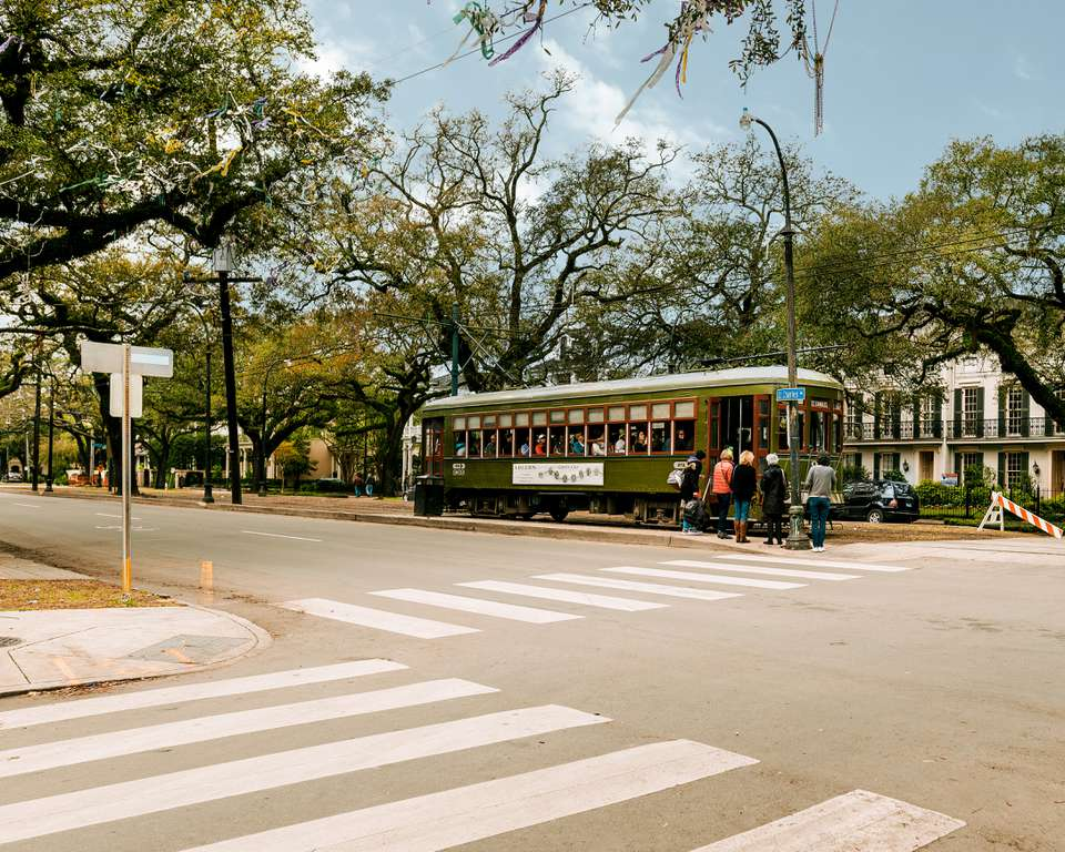 St. Charles Streetcar in New Orleans, Louisiana