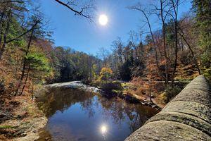 Wissahickon Creek in Wissahickon Valley Park in Autumn