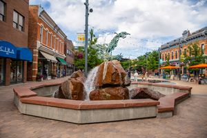 Old Town Square in Downtown Fort Collins, CO