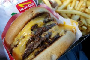 The 4 by 4 burger at IN-N-OUT Burger in Las Vegas