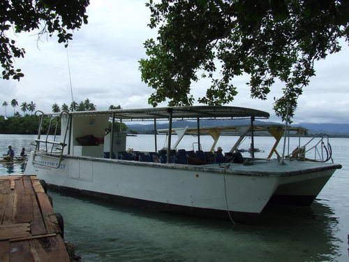 Snorkeling Tour Boat at Papua New Guinea