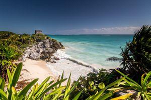 Mayan Ruins at the Riviera Maya, Quintana Roo, Tulum, Mexico