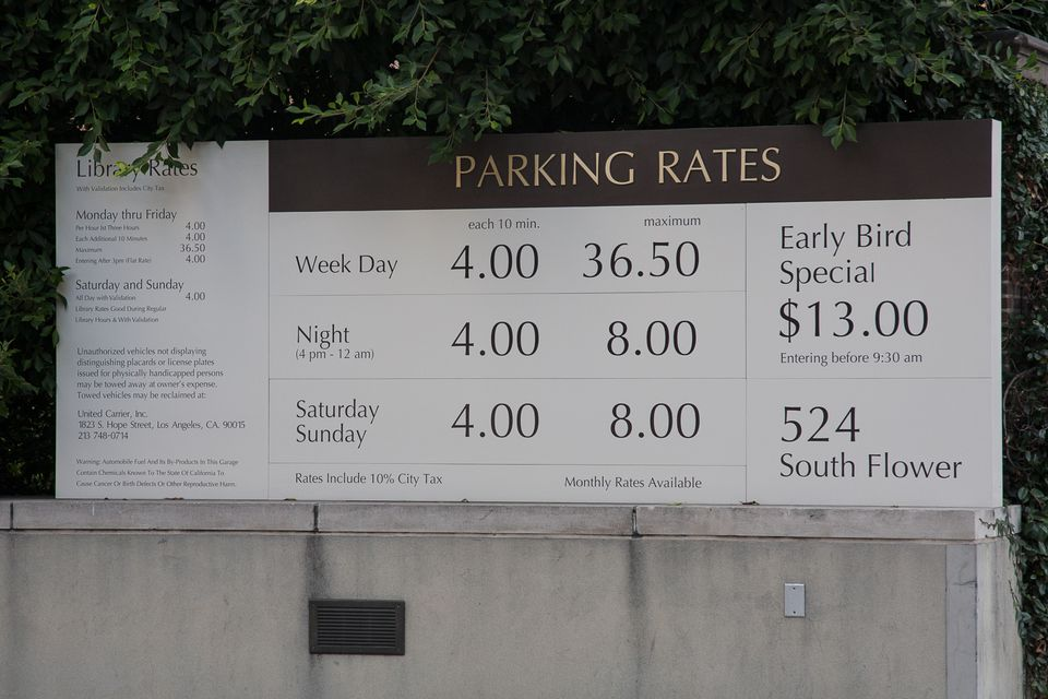 Parking Garages And Lots In Los Angeles
