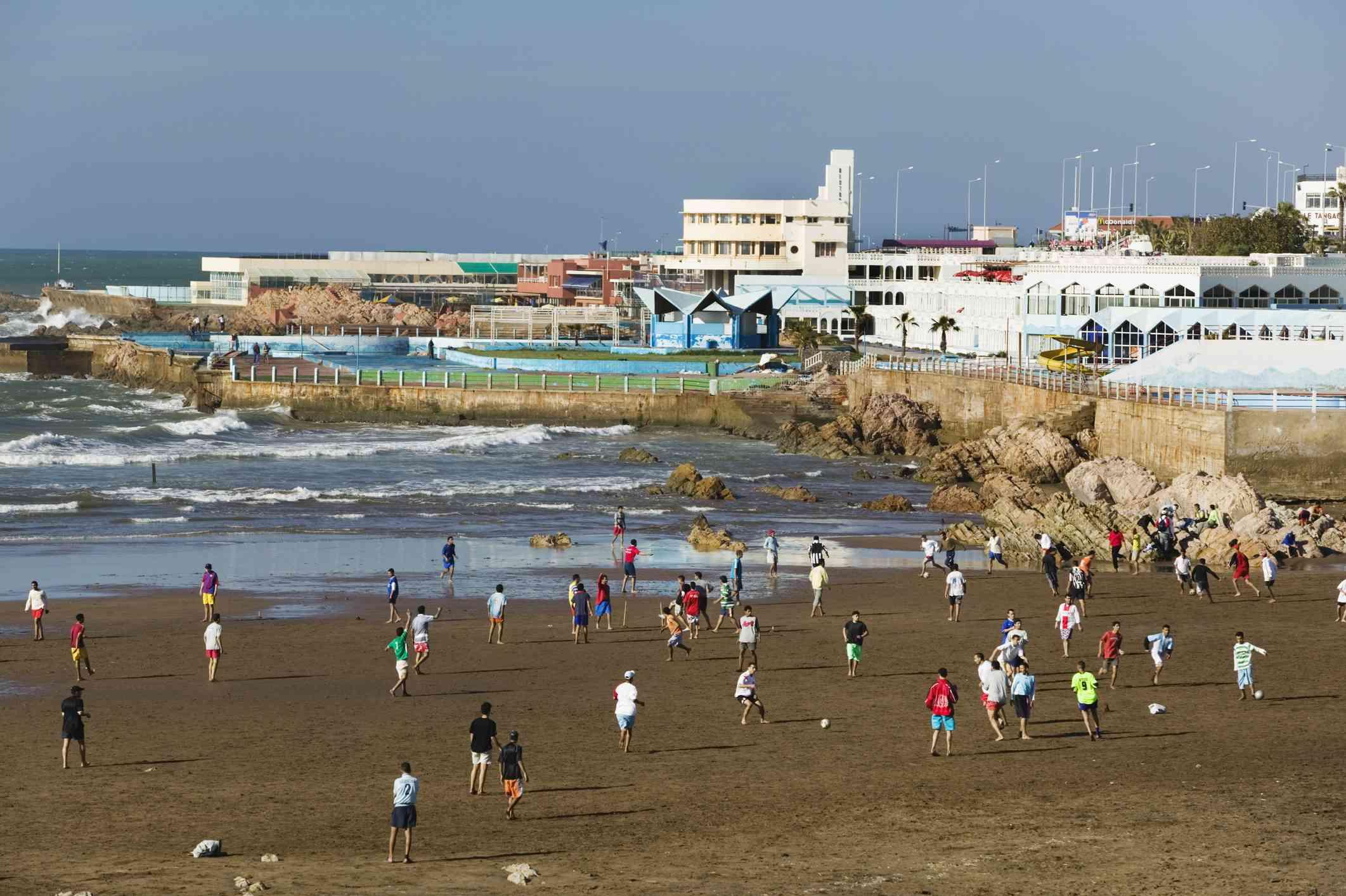 Ain Diab Beach on La Corniche, Casablanca