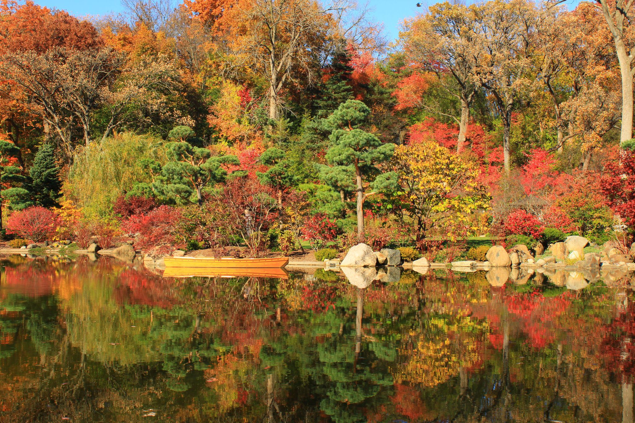Fall Color Reflections at Anderson Japanese Gardens, Rockford, Illinois