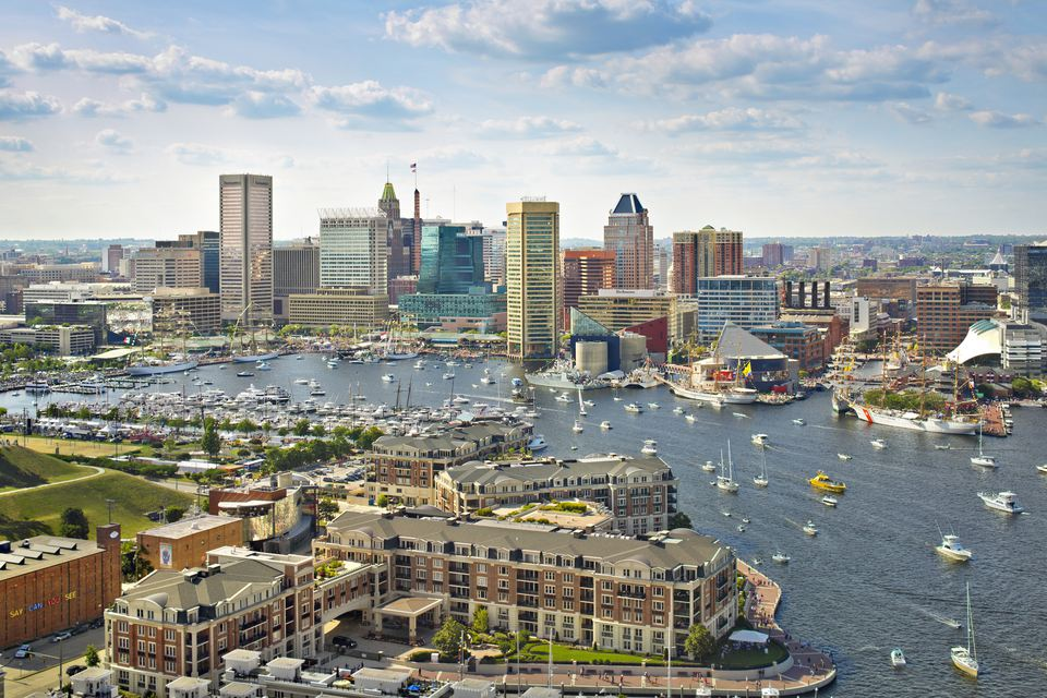 Baltimore skyline and Inner Harbor