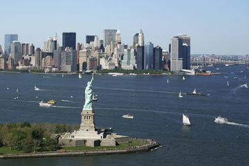 Liberty Island from New Jersey