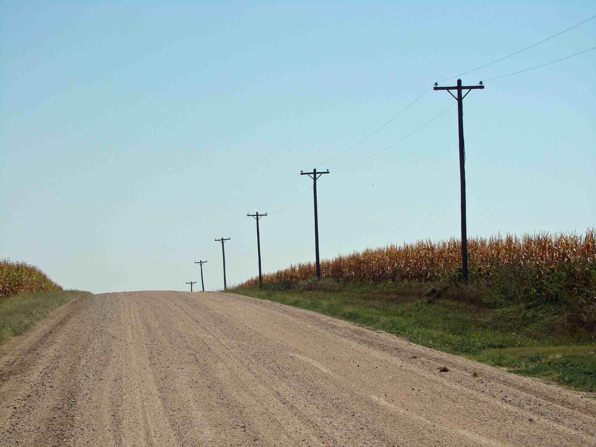Country road near Pleasant Hill Cemetery, Jefferson County, Nebraska