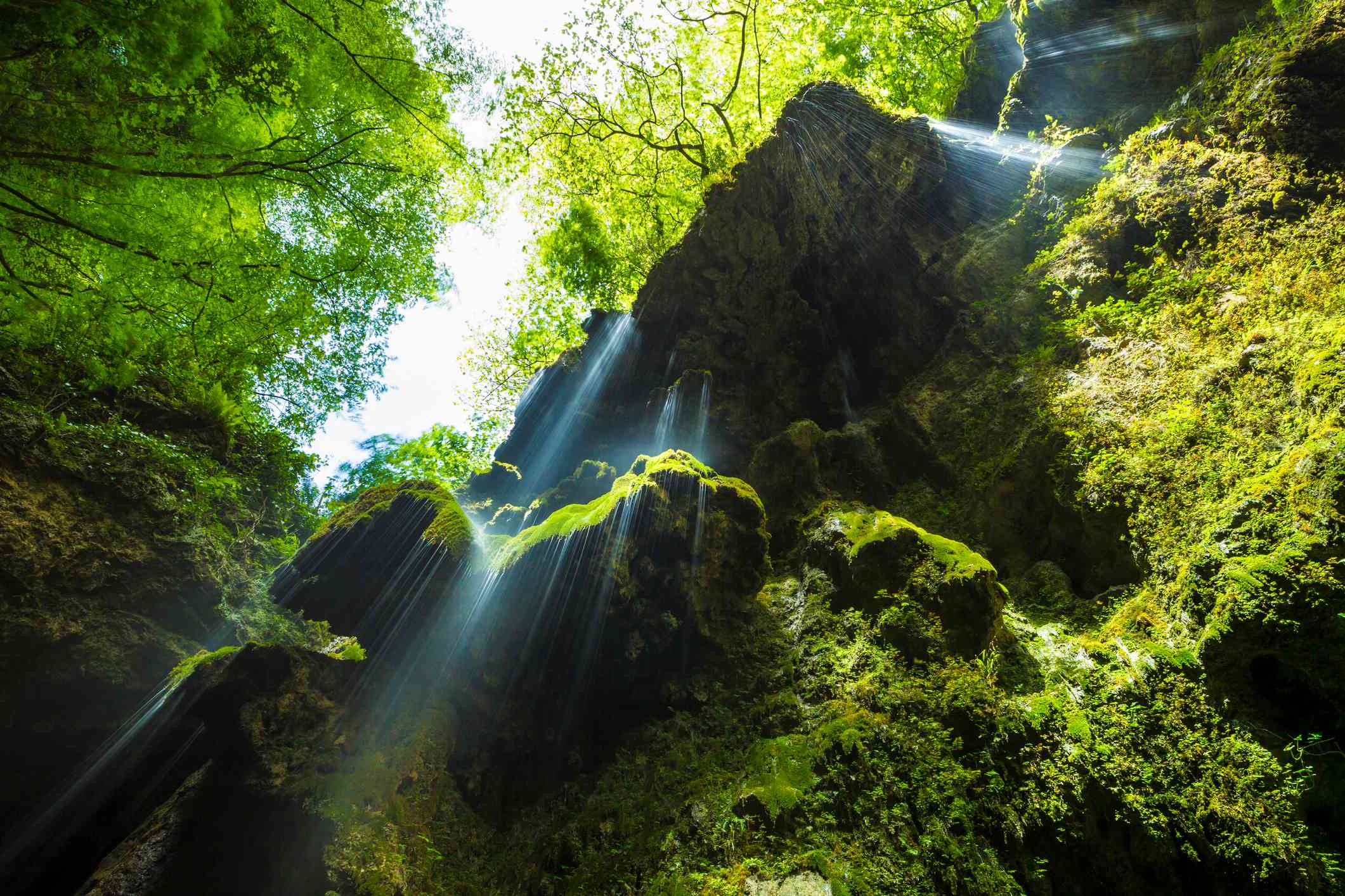 Small waterfall in the Valley of the Ferriere, Amalfi Coast