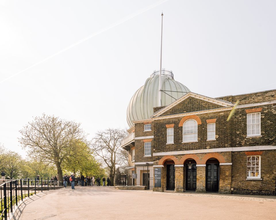 Royal Observatory Greenwich in London on an overcast day
