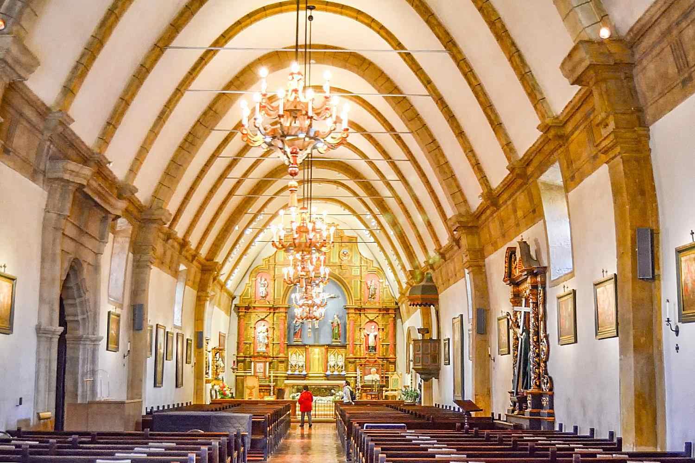 Interior of Mission Carmel
