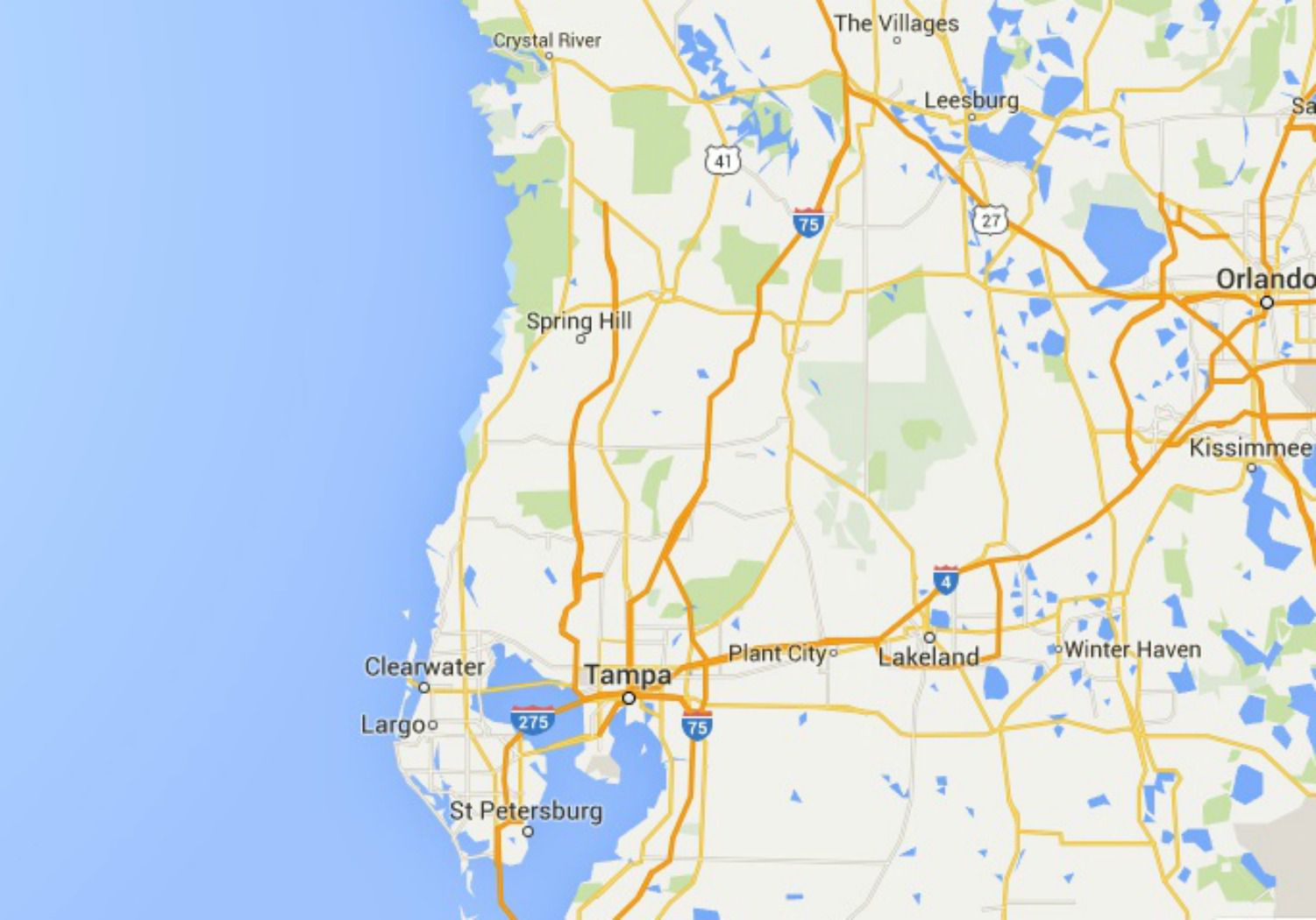 Map Of Florida Clearwater.Maps Of Florida Orlando Tampa Miami Keys And More