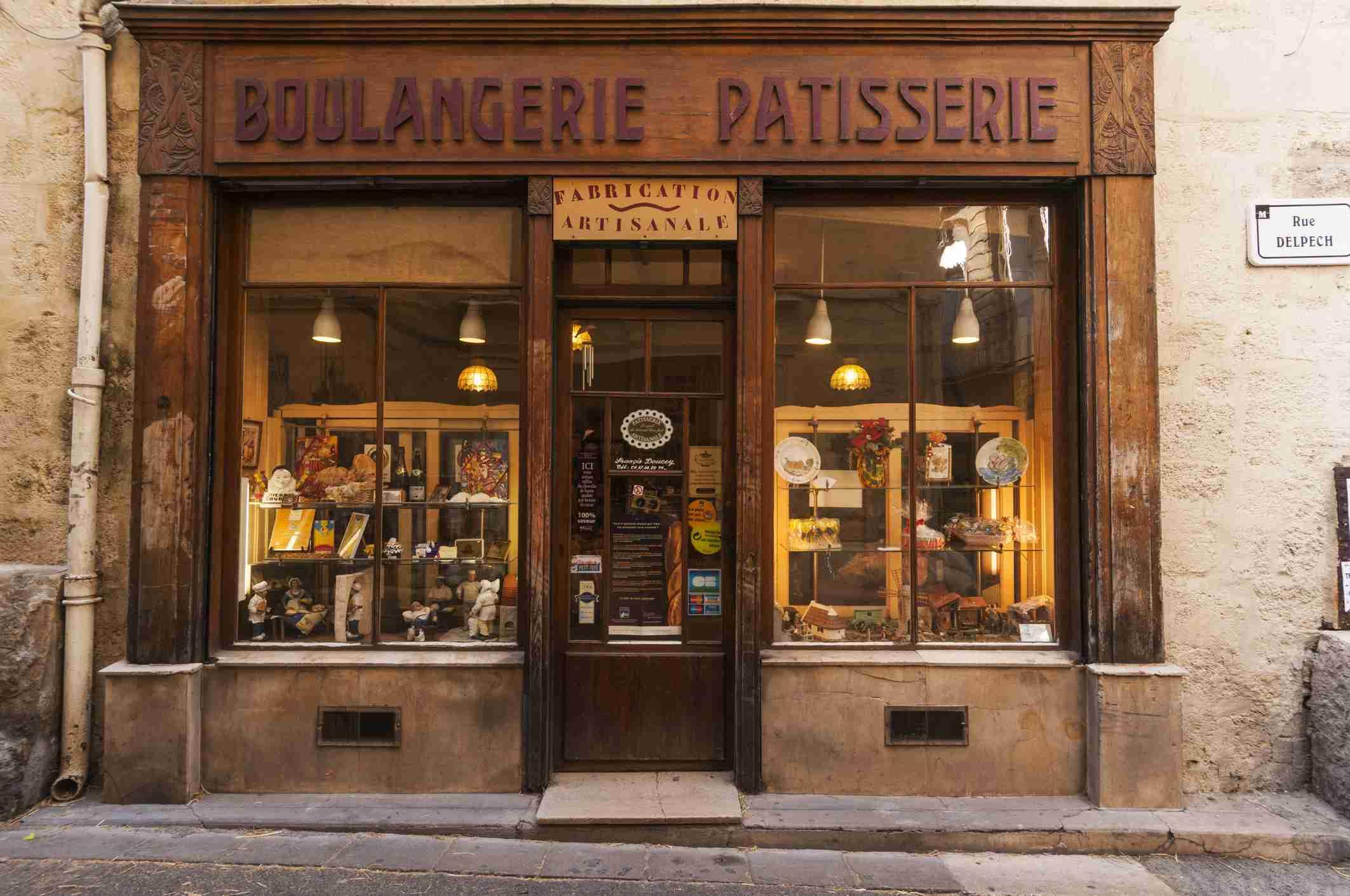 The exterior of a Parisian Patisserie