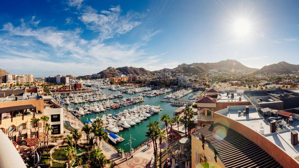 Aerial View of Cabo San Lucas Marina