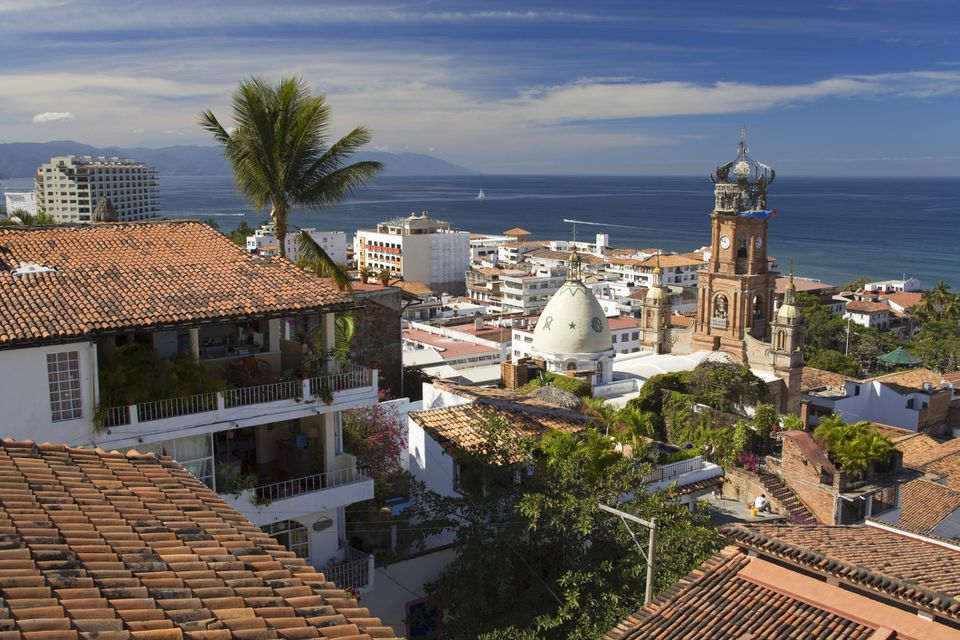 Red-tiled roofs of Puerto Vallarta
