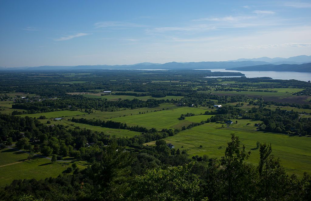 View of Lake Champlain from Mount Philo, Vermont