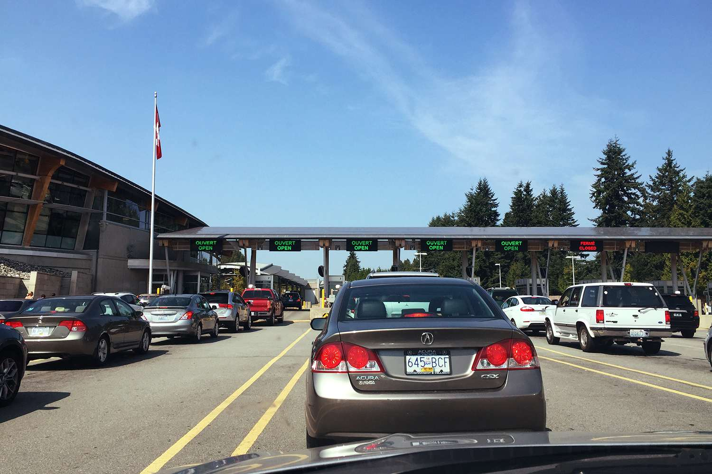 Cruce fronterizo Canadá BC