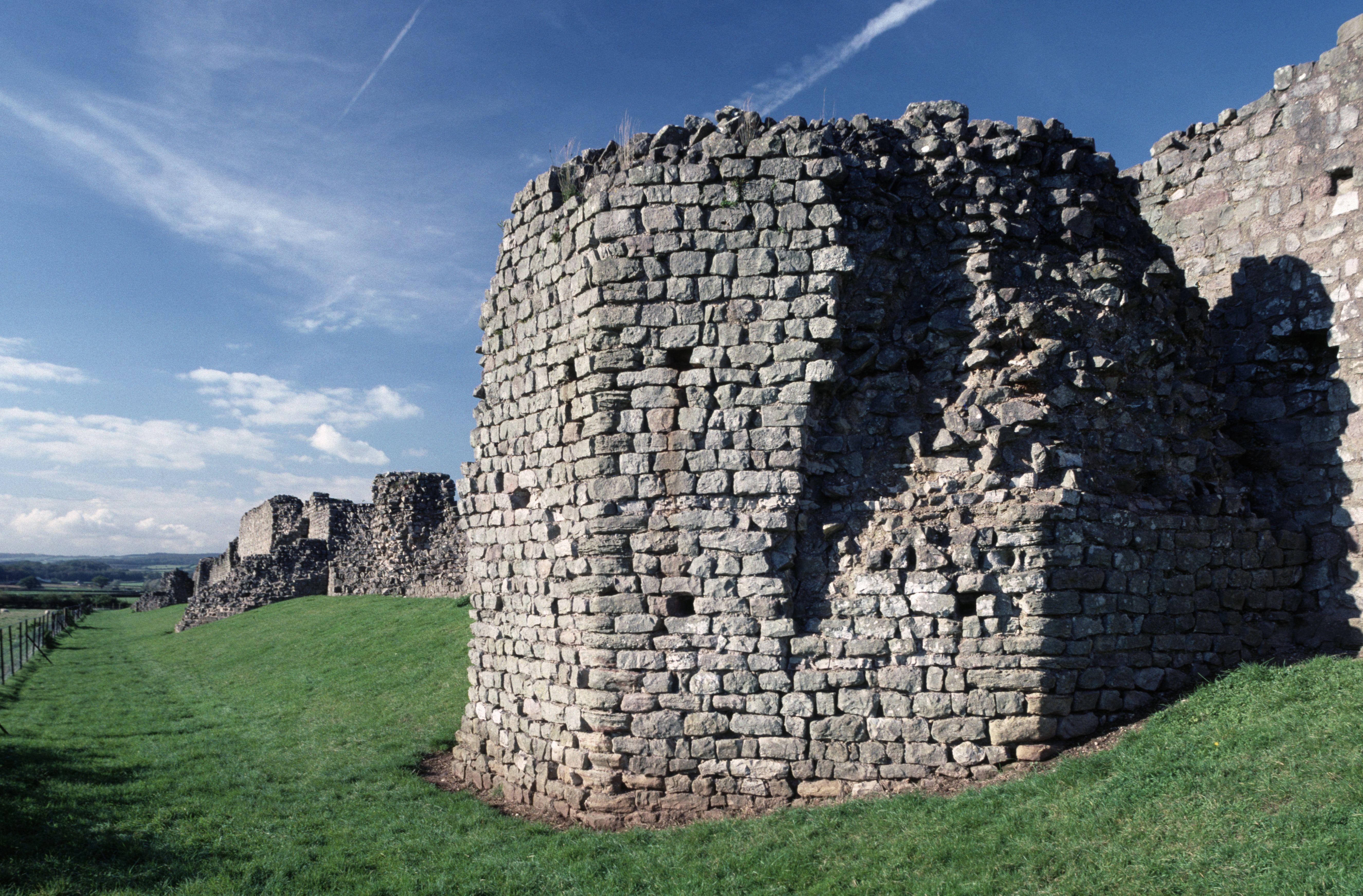 Ruins of the Roman walls of Venta Silurum, Caerwent, Wales, United Kingdom, Roman civilization, 1st-6th century AD