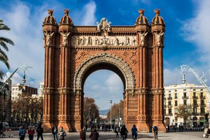 Blue skies and crisp air in Barcelona in January