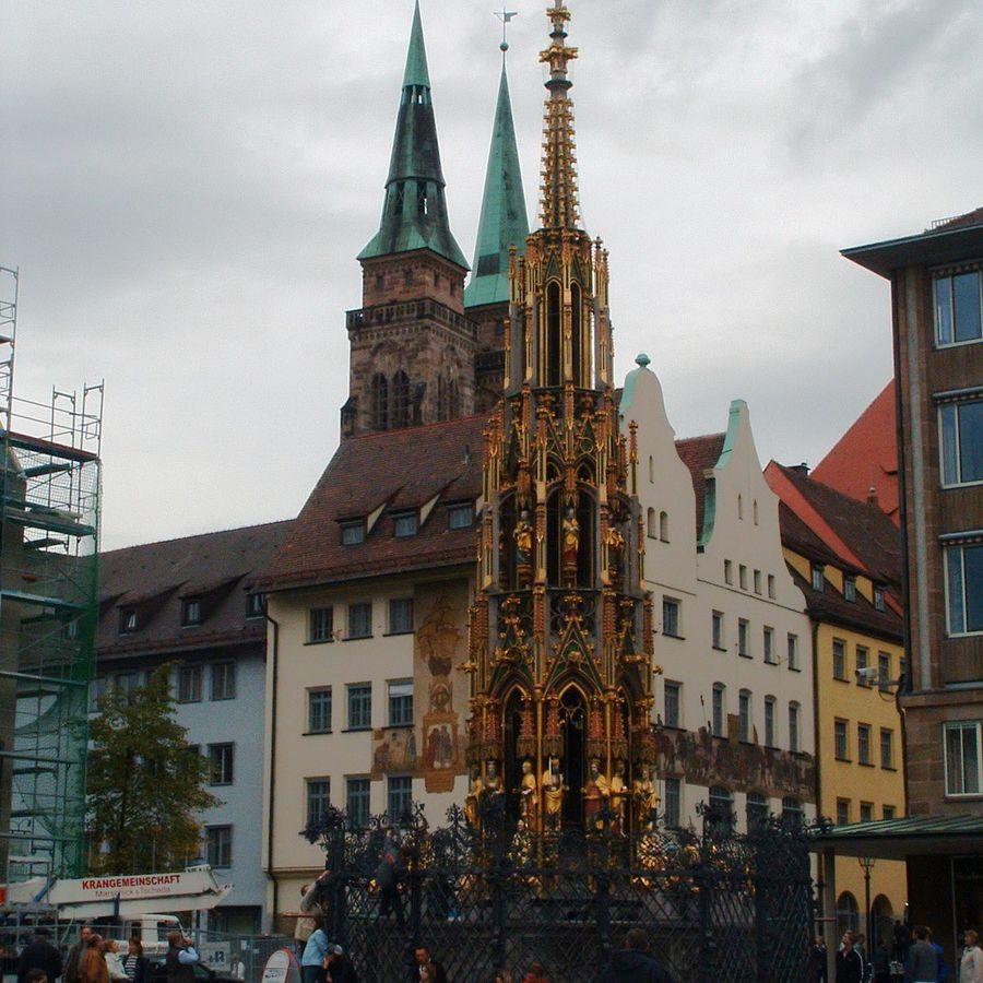 The Schöner Brunnen - Beautiful Fountain in Nuremberg