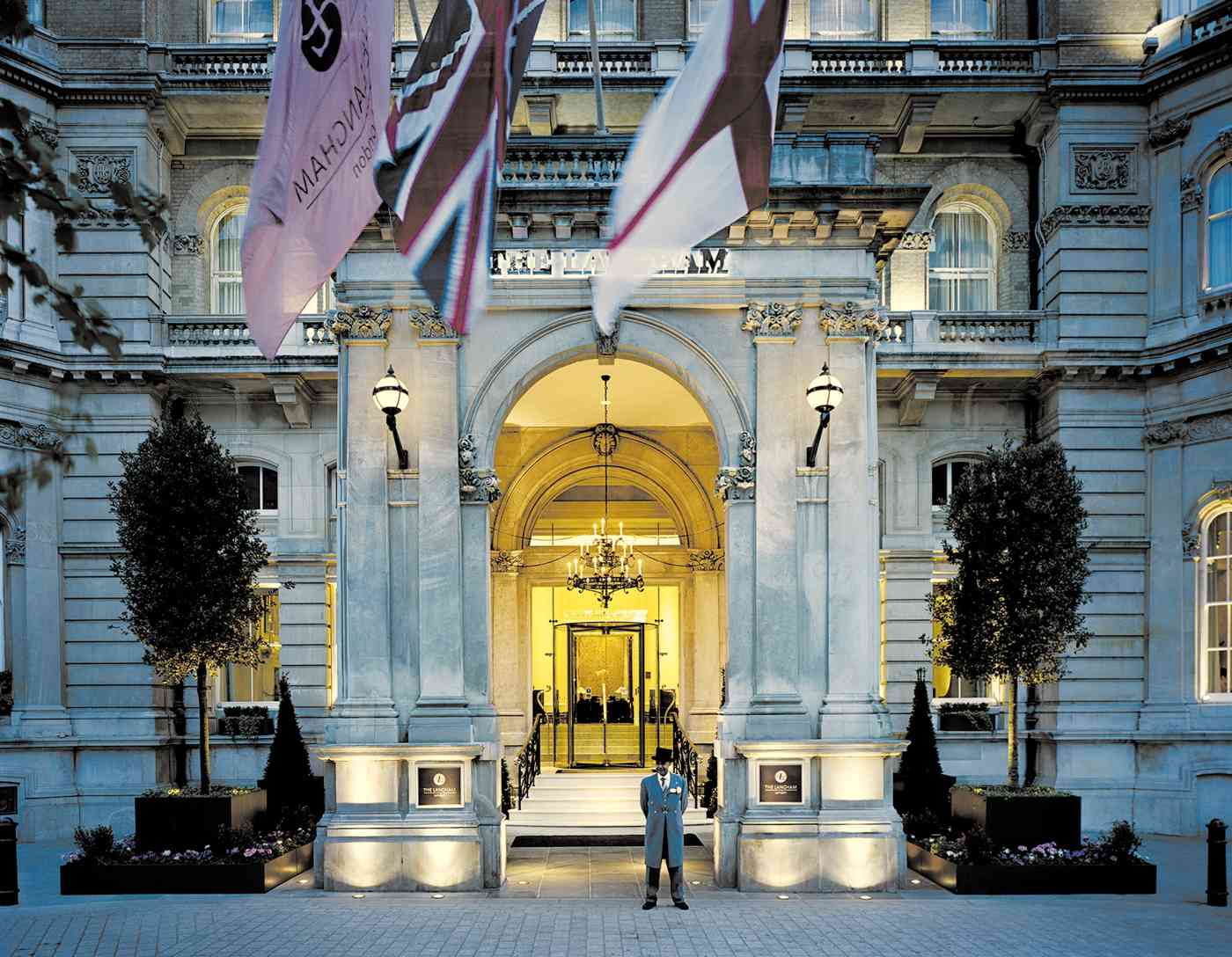 A grand entrance to a grand hotel: The Langham, London