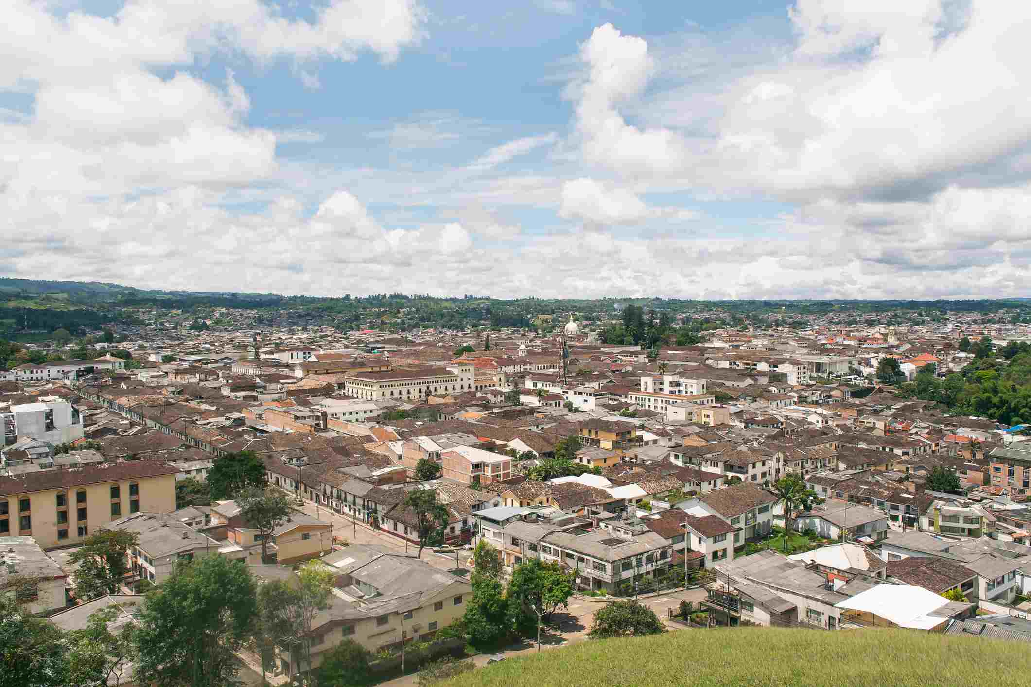 Aerial View of Popayan's Old Town