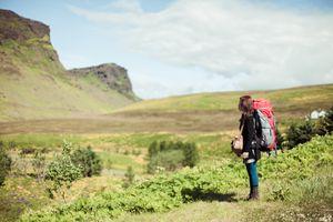 Backpacker in the wilderness