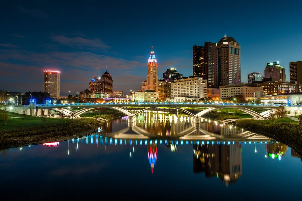 Downtown Columbus Reflection