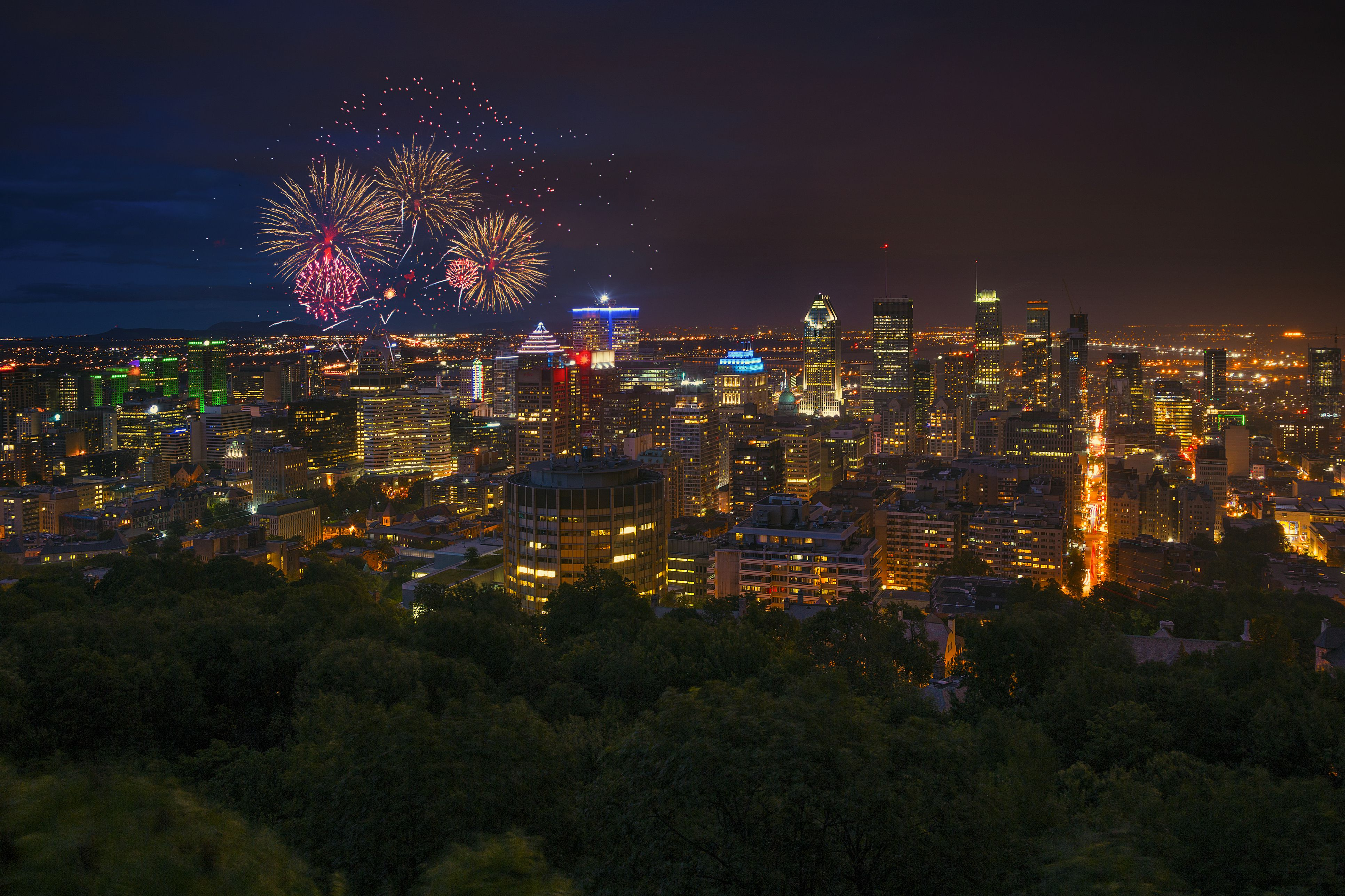 Fireworks in Montreal, Quebec, Canada