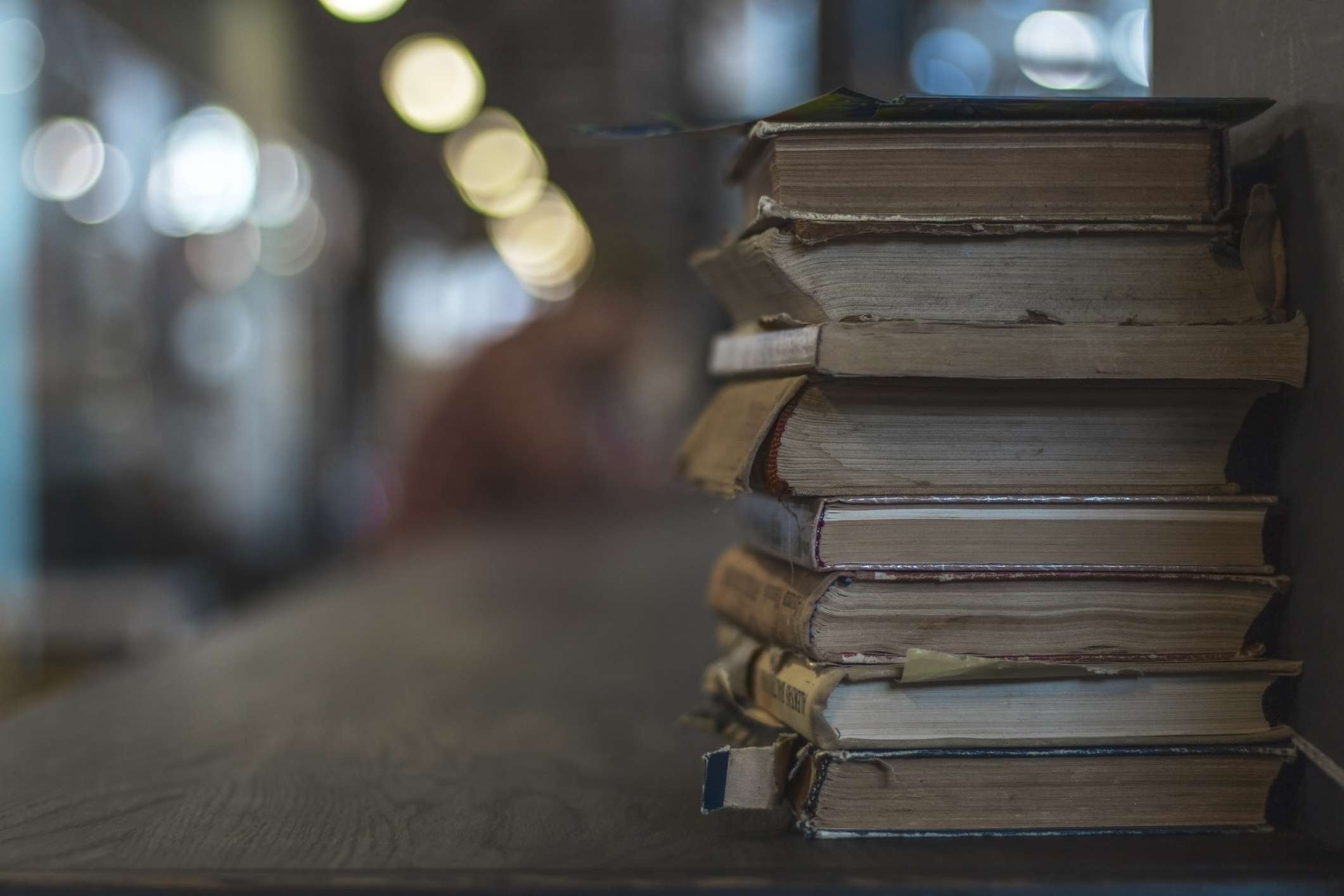 Old books on a table
