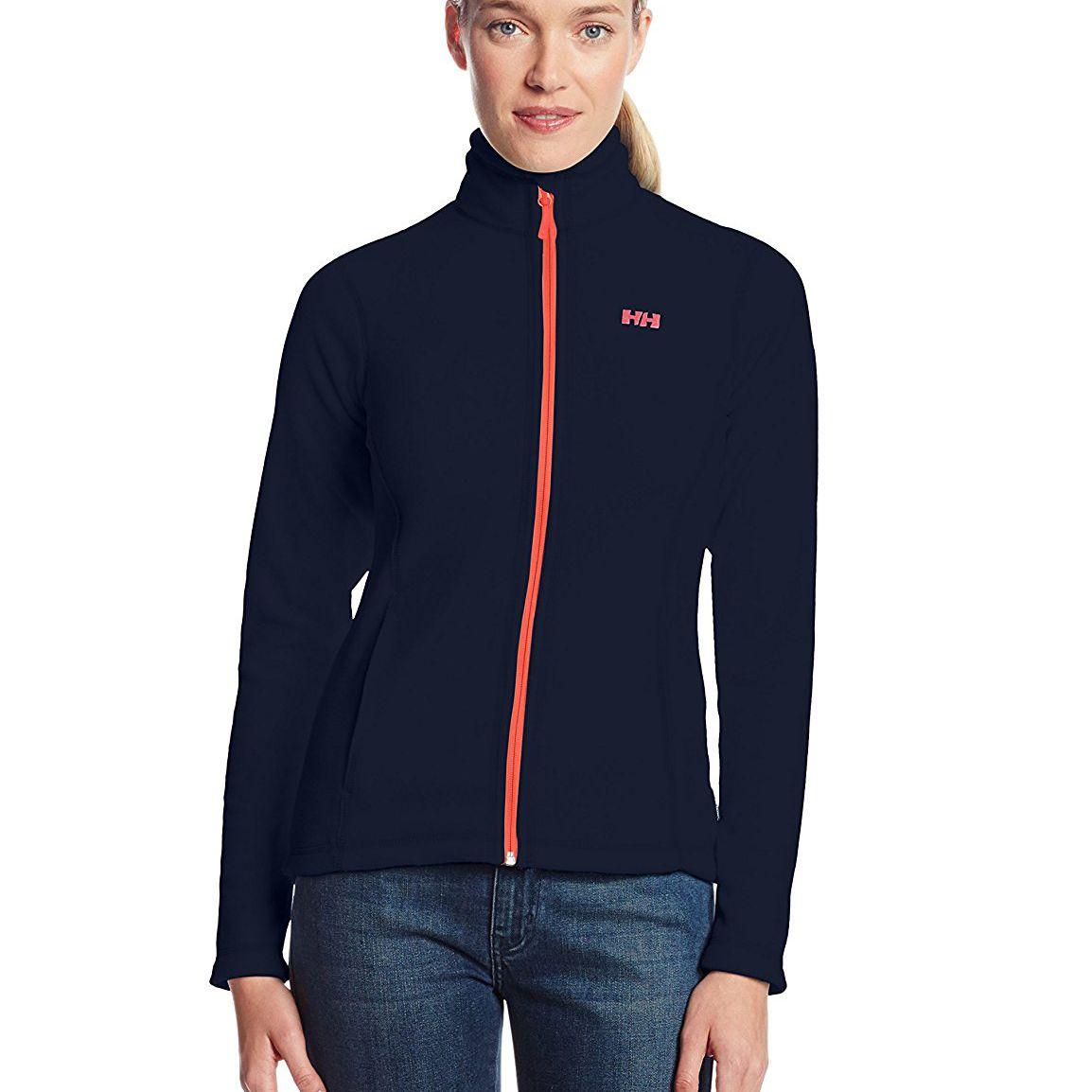 woman in fleece jacket